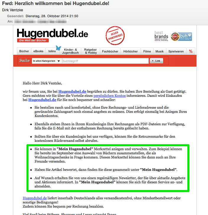 Hugendubel E-Mail